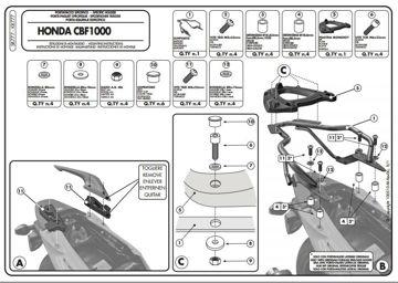 Resim KAPPA  HONDA CBF 1000 - CBF 1000 ST (10-12) ARKA ÇANTA TAŞIYICISI KR77