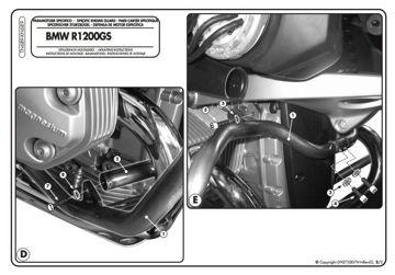 Resim KAPPA BMW R 1200 GS (04-12) KORUMA DEMİRİ KN689