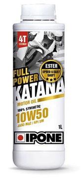Resim IPONE Full Power Katana / (10W50) 4T Esterli %100 Sentetik Performans Motor Yağı (1L)