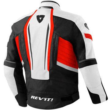 Resim Revit Raceway Mevsimlik Motosiklet Montu Beyaz Kırmızı