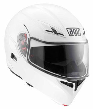 Resim AGV Compact Çeneden Açılır Motosiklet Kaskı Beyaz