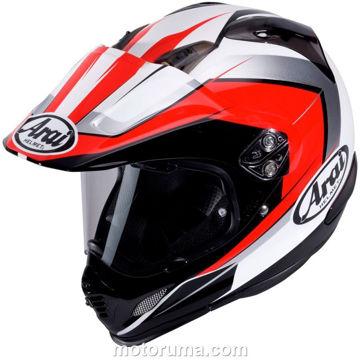 Resim Arai Tour X4 Flare Kapalı Motosiklet Kaskı Kırmızı Beyaz