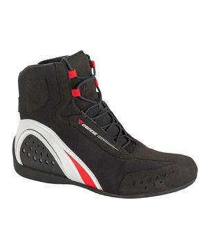 Resim Dainese Motorshoe D-Wp Su Geçirmez Kısa Bot Siyah Kırmızı Beyaz