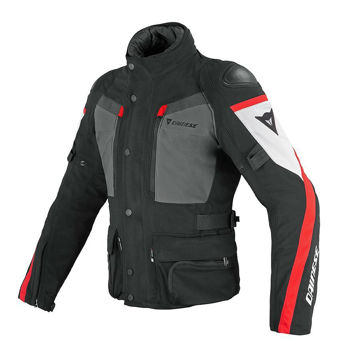 Resim Dainese G. Carve Master Gore Tex Motosiklet Montu Siyah Kırmızı Beyaz