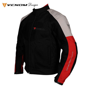 Resim Venom Dynamic Fileli Mevsimlik Mont Siyah Gri Kırmızı