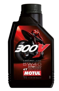 Resim Motul 300V MotoGP Serisi 5W40   1 Litre Ful Sentetik Motosiklet Motor Yağı