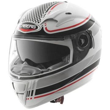 Resim Caberg Vox Kapalı Motosiklet Kaskı Daytona Siyah Beyaz