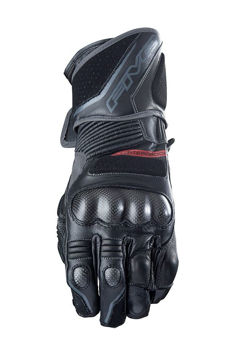 Resim Five Gloves GT1 WP Mevsimlik Deri Motosiklet Eldiveni Siyah