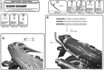 Resim Givi 518F Suzukı GSX 600 - 750 F (98-02) Motosiklet Arka Canta Tasıyıcı