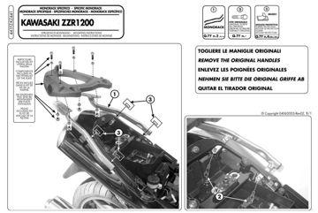 Resim Givi 441FZ Kawasakı ZZR 1200 (02-05) Motosiklet Arka Çanta Taşıyıcı