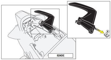 Resim Givi 1132KIT Honda VFR 800 F (14-15) Motosiklet Yan Çanta Taşıyıcı Bağlantı Kiti