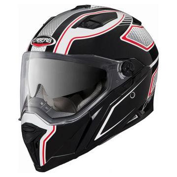 Resim Caberg Stunt Blade Motosiklet Kaskı Beyaz Siyah Kırmızı