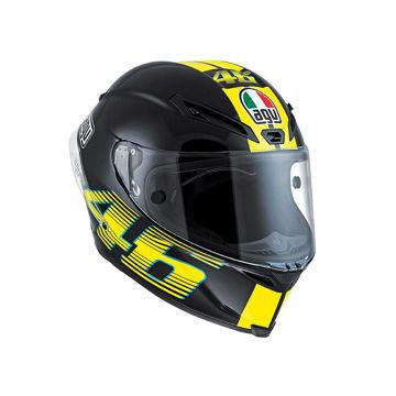 Resim AGV Corsa Top V46 Motosiklet Kaskı Siyah Sarı