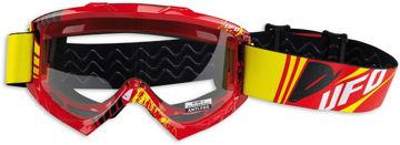 Resim Ufo Bullet Motosiklet Gözlüğü Kırmızı