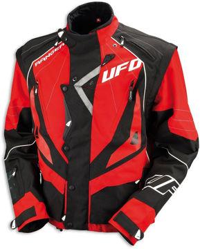 Resim Ufo Enduro Motosiklet Ceketi Kırmızı Siyah