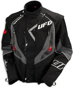 Resim Ufo Enduro Motosiklet Ceketi Gri Siyah
