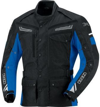 Resim IXS Evans Motosiklet Ceketi Siyah Mavi