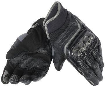 Resim Dainese Carbon D1 Kısa Motosiklet Eldiveni Siyah Gri