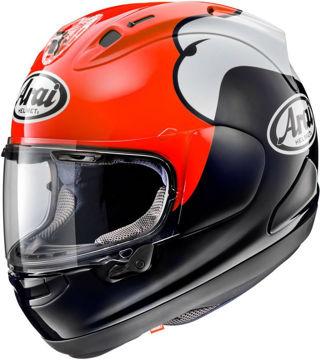 Resim Arai RX-7V Kenny Roberts Kapalı Motosiklet Kaskı Kırmızı