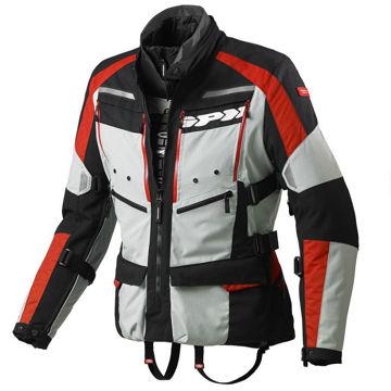 Resim Spidi 4 Season H2OUT Motosiklet Montu Kırmızı Gri