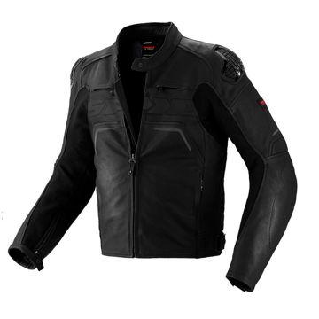Resim Spidi Evo Rider Deri Motosiklet Ceketi Siyah