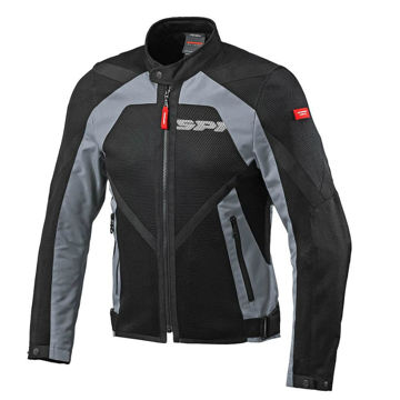 Resim Spidi Netstream Yazlık Motosiklet Ceketi Siyah Gri