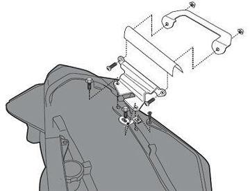 Resim Givi 267KİT Honda VFR 1200 F (10-15) Motosiklet Yan Çanta Taşıyıcı Bağlantı Kiti