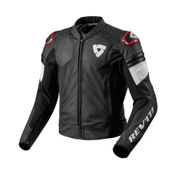 Resim Revit Akira Deri Motosiklet Ceketi Siyah Kırmızı