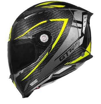 Resim CMS GTRS 2.0 Karbon Legera Kapalı Motosiklet Kaskı Neon Sarı