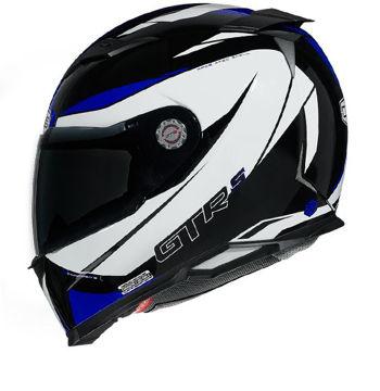 Resim CMS GTRS 3 Omnia Kapalı Motosiklet Kaskı Mavi Beyaz