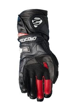 Resim Five Gloves RFX 1 Deri Yazlık Yarış Motosiklet Eldiveni Siyah