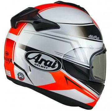Resim Arai Chaser-X Shaped Kırmızı Kapalı Motosiklet Kaskı