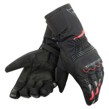 Resim Dainese Tempest Unisex D-Dry Motosiklet Eldiveni Siyah Kırmızı
