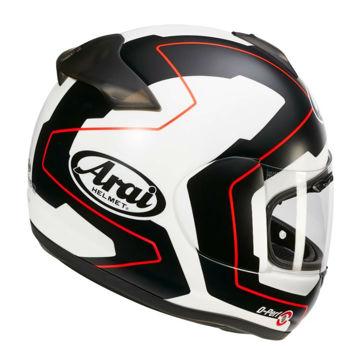 Resim Arai Axces 3 Line Kırmızı Kapalı Motosiklet Kaskı