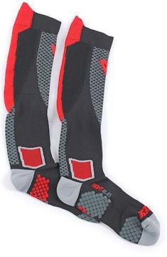 Resim Dainese D-Core High Motosiklet Çorabı Siyah Kırmızı