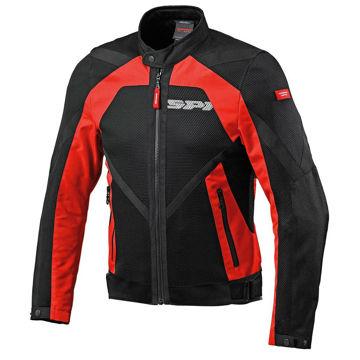 Resim Spidi Netstream Yazlık Motosiklet Ceketi Kırmızı Siyah
