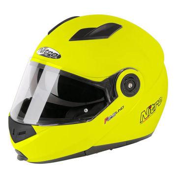 Resim Nitro F345 Çeneden Açılır Motosiklet Kaskı Neon Sarı