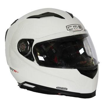 Resim CMS GTRS 3 Beyaz Kapalı Motosiklet Kaskı
