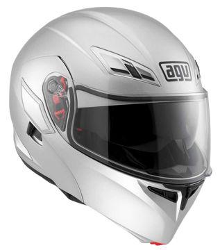 Resim AGV Compact Çeneden Açılır Motosiklet Kaskı Gri