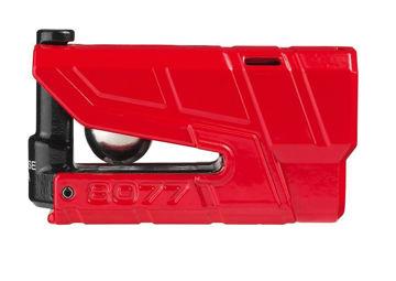 Resim Abus 8077 Granit Detecto X-Plus Alarmlı Motosiklet Disk Kilidi Kırmızı