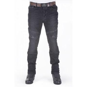 Resim Motobike Jeans 6006 Siyah Körüklü Aramid Kot Motosiklet Pantolonu