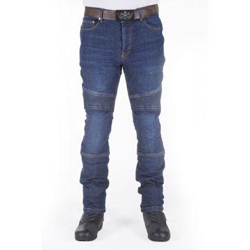 Resim Motobike Jeans 6005 Mavi Aramid Kot Motosiklet Pantolonu