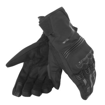 Resim Dainese Tempest Unisex D-Dry Motosiklet Eldiveni Kısa Siyah