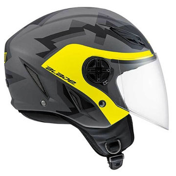 Resim AGV Blade Camodaz Mat Sarı Gri Açık Motosiklet Kaskı