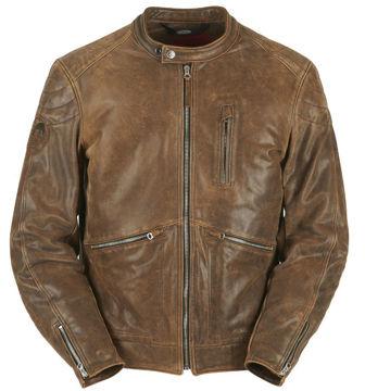 Resim Furygan Coburn Deri Motosiklet Ceketi Kahverengi