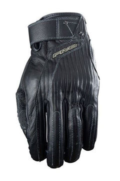 Resim Five Gloves El Camino Deri Motosiklet Eldiveni Siyah