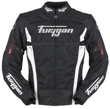 Resim Furygan Swirl 3 Kat Mevsimlik Motosiklet Montu Siyah Kırmızı
