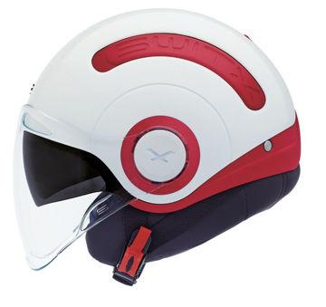 Resim NEXX SX.10 Yarım Motosiklet Kaskı Kırmızı-Beyaz