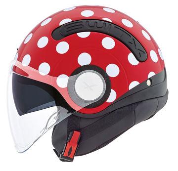 Resim NEXX SX.10 Polka Yarım Motosiklet Kask Kırmızı