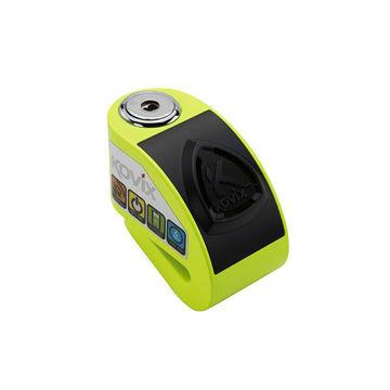 Resim Kovix KD6-FG Alarmlı Motosiklet Disk Kilit Neon Sarı
